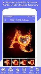 Fire Text Photo Farme