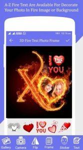 Fire Text Photo Frame