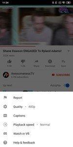 الاعدادات في تطبيق يوتيوب Youtube