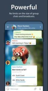 لا يوجد حد اقصي لعدد اعضاء المجموعة من مميزات تطبيق Telegram