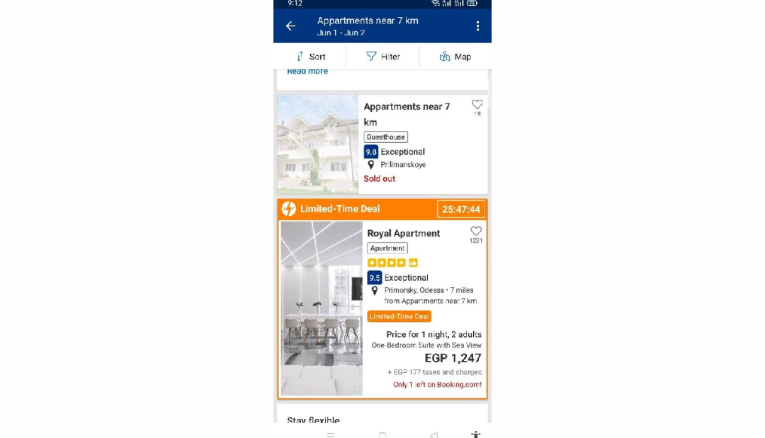 الفنادق والأماكن السياحية المتاحة على تطبيق بوكينج